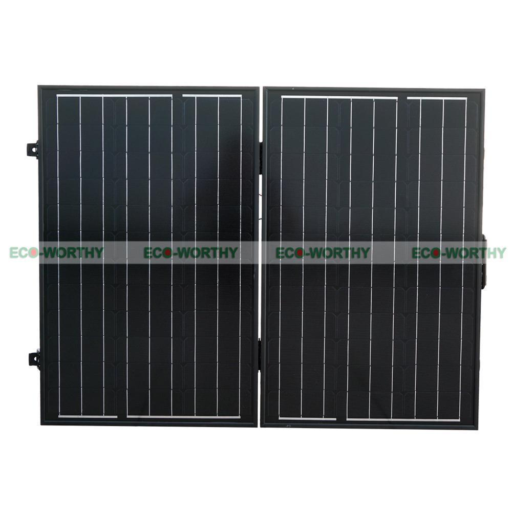 цена на 120W 12V PV Folding Mono Solar Panel for Home Outdoor Camping Hiking RV Boat Solar Generators