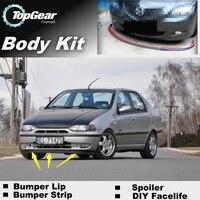 Bumper Lip Deflector Lips For Fiat Albea / Siena 2002~2012 Front Spoiler Skirt For TopGear friends Tuning / Body Kit / Strip