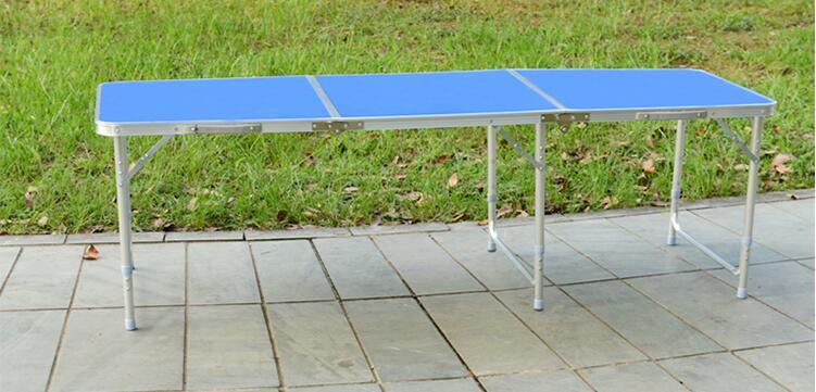 180 * 60 * 70 cm alumīnija sakausējuma saliekamais galds - Mēbeles - Foto 3