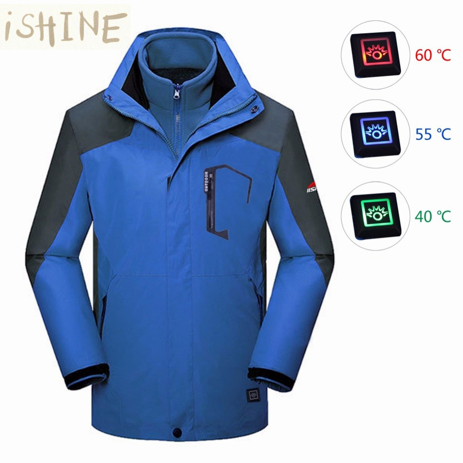 Electric Heated Outerwear Wiring Diagram Master Blogs Jacket Men Warm Winter Coat Thick Vest Clothing