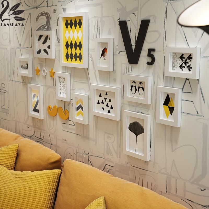 Lanskaya Senna Bonin Holz Familie Rahmen Bilderrahmen Wand Moderne ...