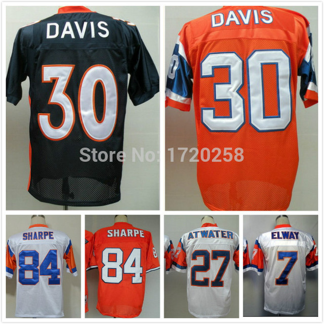 #30 Terrell Davis Jersey,Throwback Football Jersey,Sport Jersey,Size M--XXXL,Accept Mix Order