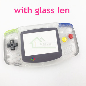 Clear Shell Housing for Gameboy Advance for GBA Shell Cover Case replacement with Glass Screen Len and Color Buttons(China)