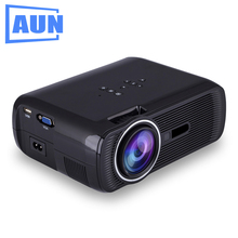 Aun proyector u80, 1800 Lúmenes Soporte Full Hd 1080 p de Vídeo de Cine En Casa Proyector LED HDMI Media Player 3D Beamer LED TV