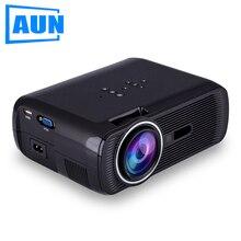 Aun проектор u80, Поддержка 1800 Люмен Full Hd 1080 P Видео для Домашнего Кинотеатра СВЕТОДИОДНЫЙ Проектор HDMI Media Player 3D Beamer LED ТЕЛЕВИЗОР
