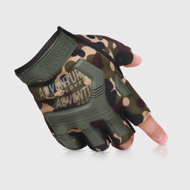 Men's Tactical Gloves Half Finger Military Army Fighting Combat Mittens Outdoor Anti-slip Carbon Men Fingerless Handschoenen