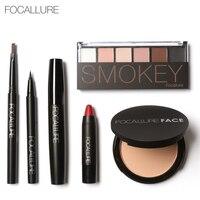 Focallure Makeup Sets Tools 6pcs Eyes Makeup Eyeshadow Powder Eyebrow Pencils Lipstick Kits Beauty Cosmetics Sets