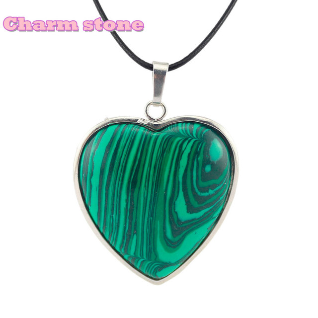7e2eab2d35 Discount Natural Crystal heart Pendants Necklace Same with Jean Reno  colourfull Jewellery