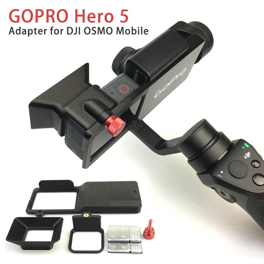 GoPro Hero 5 Accesorios Adaptador Placa De Montaje Para DJI Osmo Mobile Gimbal Camara