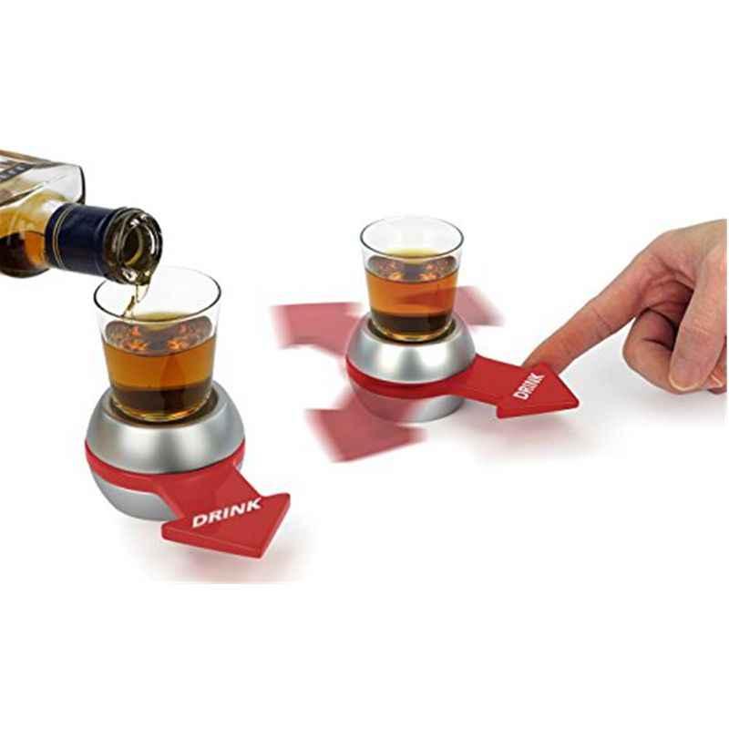 Shoe Spinner Питьевая игра Spin The Shot поворотный стол рулетка СТЕКЛО спиннинг забавные вечерние игрушки для дома и взрослых Новинка стеклянная Питьевая игра