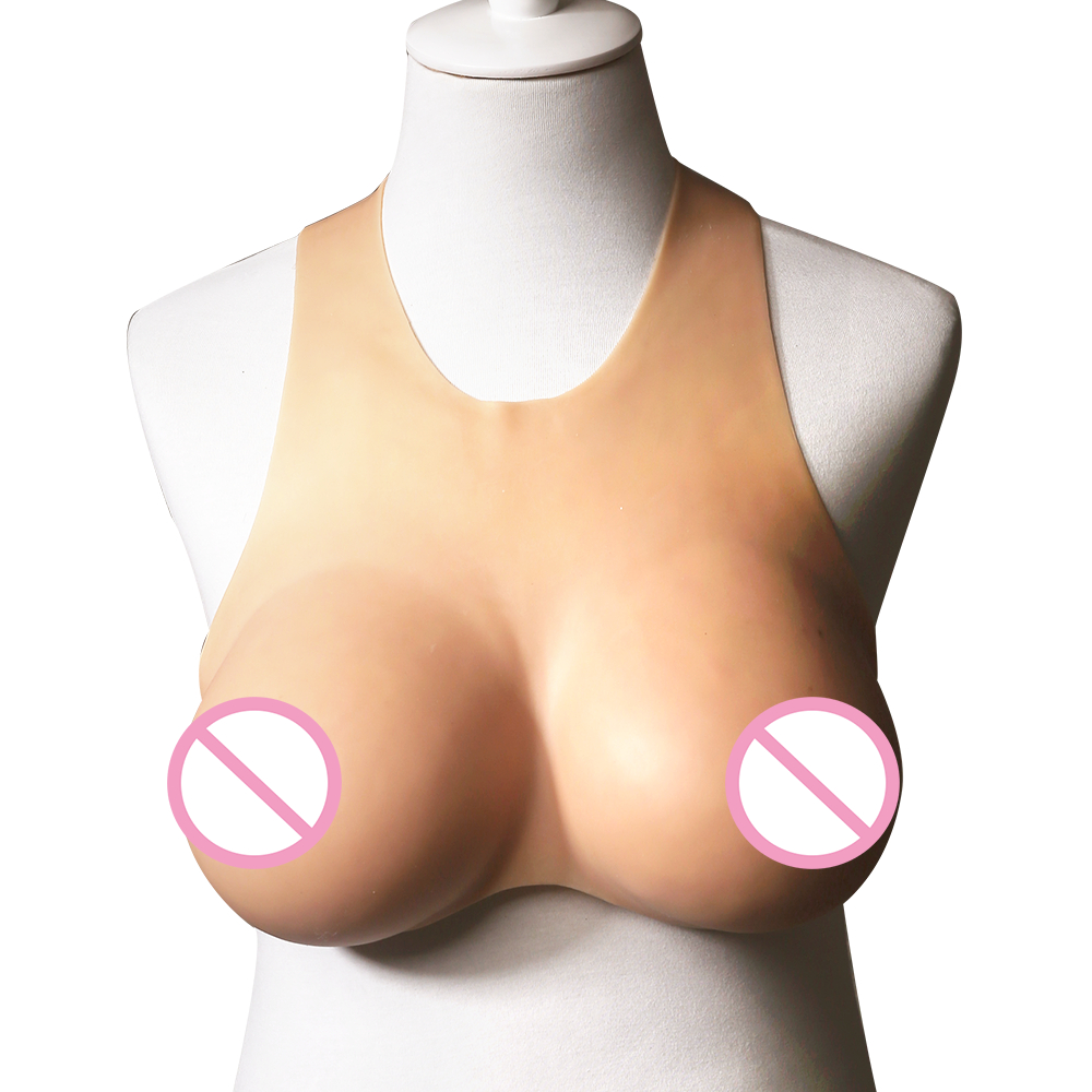 Top quality C D Cup Realistic Silicone round collar Breast Forms Artificial Boobs Enhancer Crossdresser shemale Trandsgender tit 800g 1000g 1200g realistic silicone breast forms artificial huge false boobs enhancer crossdresser for man shemale trandsgender