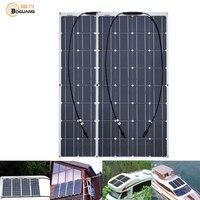 2pcs 100w 200 watt Solar Module charger solar Panel 12v or 24 Volt Solar cell china flexible Solpanel battery/yacht/RV/car/boat