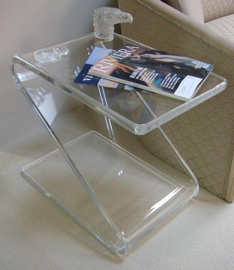 Acrylic Z Table,Lucite Telephone/sofa/magazine/Laptop Tables one lux waterfall acrylic lucite lounge sofa table plexiglass waiting room magazine side coffee corner tables