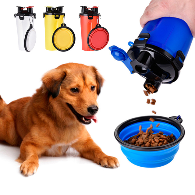 Dog's 2 in 1 Food Container and Feeding Bowl Set