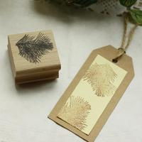 High Quality Pine Leaf Design Diy Postcard Or Bookmark Scrapbooking Stamp Set Beatiful Wooden Rubber Stamps
