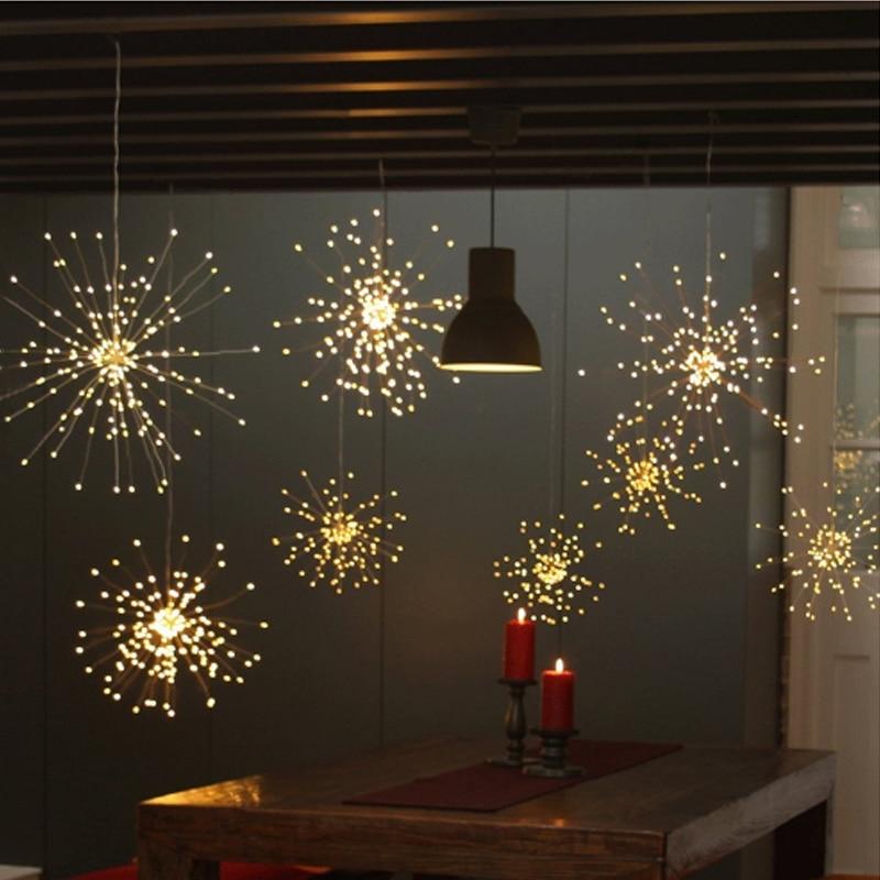 Firework String LED Lights Indoor Festival Light Decoration For Window Patio 100LEDs 200LEDs