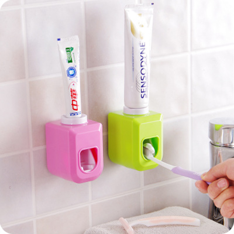 Toothpaste-Dispenser Bathroom-Products Automatic Wall-Mount Home Squeezer