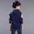 Novo menino camisola outono e inverno das crianças do menino grande moda camisola com capuz casaco águia criança tornar sem forro superior vestuário