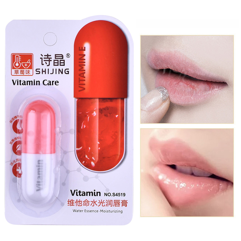 Vitamin Lip Balm Moisturizing Water Hydrating Long-Lasting Exfoliating Scrub Remove Dead Skin Lip Care Baume A Levre Fruit TSLM2