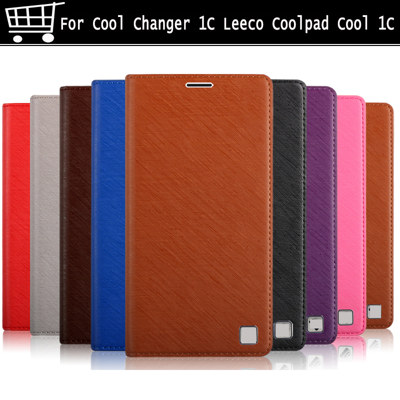 Flip leather For Coolpad /LeEco Cool Changer 1C 4G phone case cover soft case for Leeco Cool pad Cool C1 C 1 shell case cover