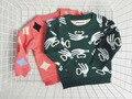 INS весна Зима Европа Дети бобо Пальцы линг шаблон свитер мальчик девочка с длинным рукавом детская одежда хлопок вязание топ