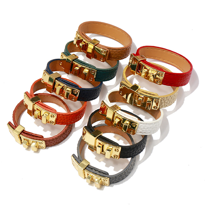 Punk PU Leather Bracelets...