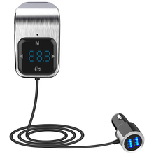 Car MP3 player hands-free calling Bluetooth receiver TF card music car FM transmitter touch button USB charger