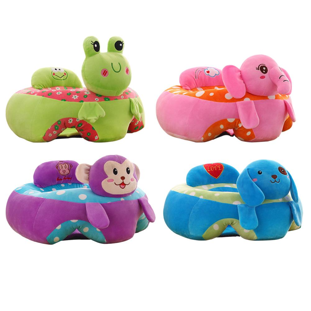 Colorful Baby Learning Sitting Seat Newest Baby Cartoon Seats Sofa Plush Support Seat Learning To Sit Baby Plush Toys For 0 3M