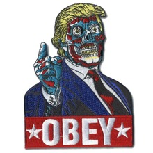 лучшая цена Custom embroidered Patches Donald Trump  iron on Patch applique Any design any qty high quality welcome to customize your patch