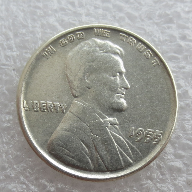 90% silver High Quality 1955 repeat LINCOLN ONE CENTS COPY coins /Free shipping