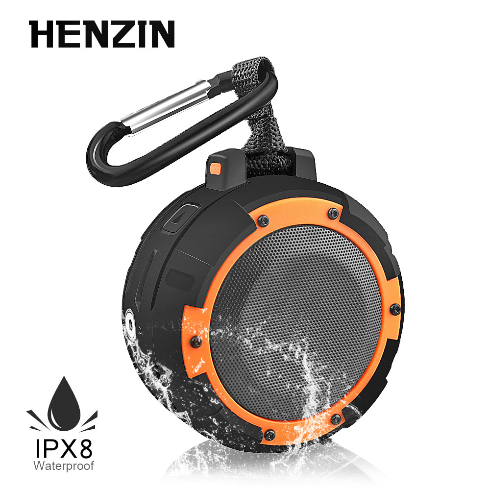 LED Portable Wireless Bluetooth Speaker IPX8 for Shower Shockproof Sports with Mount Bracket Hands-free Sound Box Column Speaker cowin dida touch control mini portable column wireless bluetooth speaker with hd sound and enhanced bass hands free loudspeaker