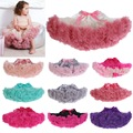 Chicas falda mullida 3M-10 años gasa Pettiskirt Kindy colores tutu faldas de la muchacha falda de enagua de tul faldas de las muchachas