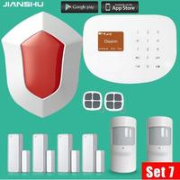 WIFI GSM Alarm Systems 433MHz Wireless Door Window Sensor House Security Alarm System With PIR Motion