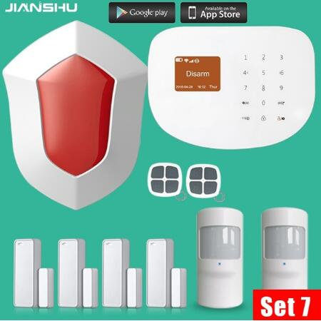 433MHZ WIFI GSM Alarm Systems Wireless Door/Window Sensor House Security Alarm System with PIR motion detector+outdoor sirens 433mhz g90b intruder home alarm wireless security gprs gsm wifi alarm system with pir motion sensor wireless smoke detector