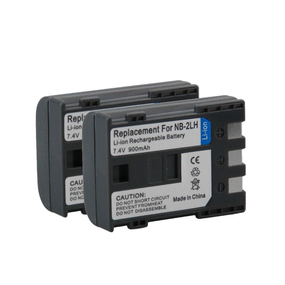 2 PCS NB-2L/2LH NB2L NB 2L 2LH Li-ion Rechargeable Caméra Batterie Pour Canon Power shot S30 S40 S45 S50 S60 S70 350D 400D G9 G7