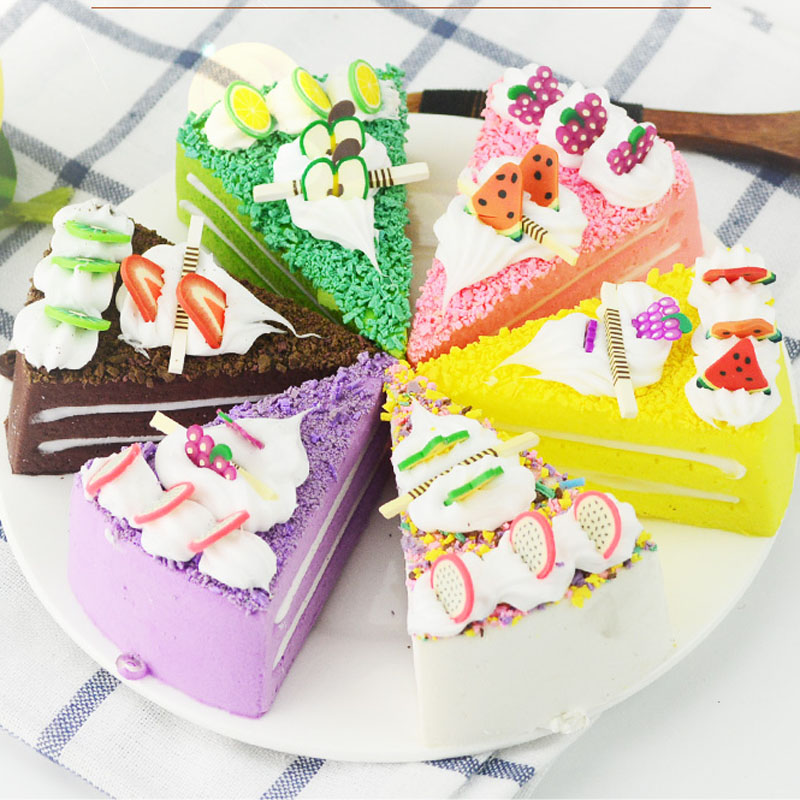050 Simulated cake model triangular bread food props decoration of new fake fruit bakery 7 3cm in Artificial Foods Vegetables from Home Garden