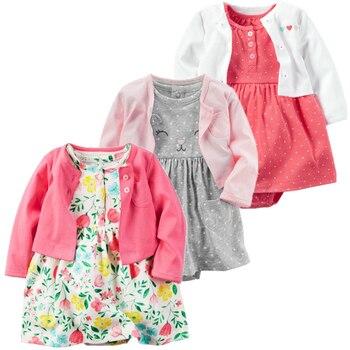 e4f2bd7b1 2019 Primavera Verano bebé niña ropa romper 2 unids/set recién nacido bebé  niña ropa de algodón ropa infantil Conjuntos Bebé mono