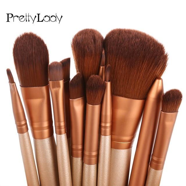 FOCALLURE 12 Pcs Kit Escova de Maquiagem Profissional Conjunto de Cosméticos Pó Foundation Sombra Delineador Lip Escova Ferramenta Pincel Maquiage 1