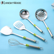 5 Pcs/Set Multifunction Kitchen Tools Set Stainless Steel Cooking Utensils Soup Ladle Spatula Kitchenware