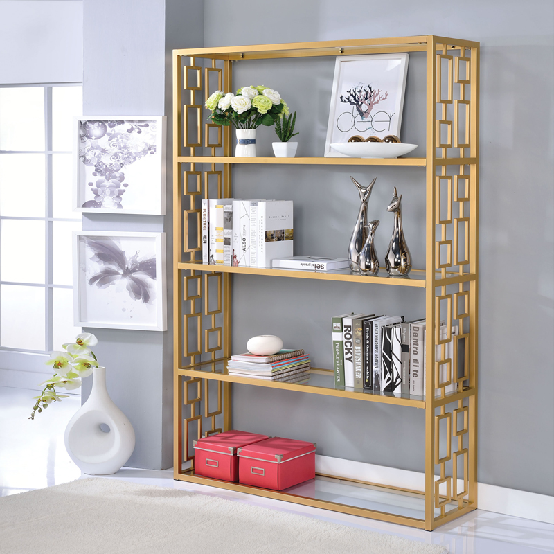 luxury brushed gold Wine rack marble bathroom shelf living room shelf gold floor single frame simple easy corner organizer shelf