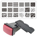 1 x Nail Art Stamper Scraper Set de Belleza de Uñas de Acero Inoxidable Que Estampa la Placa de Imagen Plantilla Sello Polaco Manicura Plantilla CA17-32