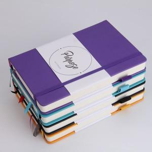 Image 2 - Pu レザーノートブックハードカバージャーナルカスタムロゴ日記計画プランナー 125 枚厚い文房具議題弾丸点線
