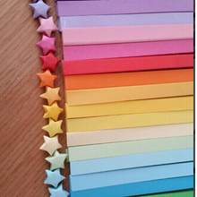 80pcs Wholesale Colorful Handcraft Origami Lucky Star Paper Strips Paper Origami Home Wedding Decoration(China)
