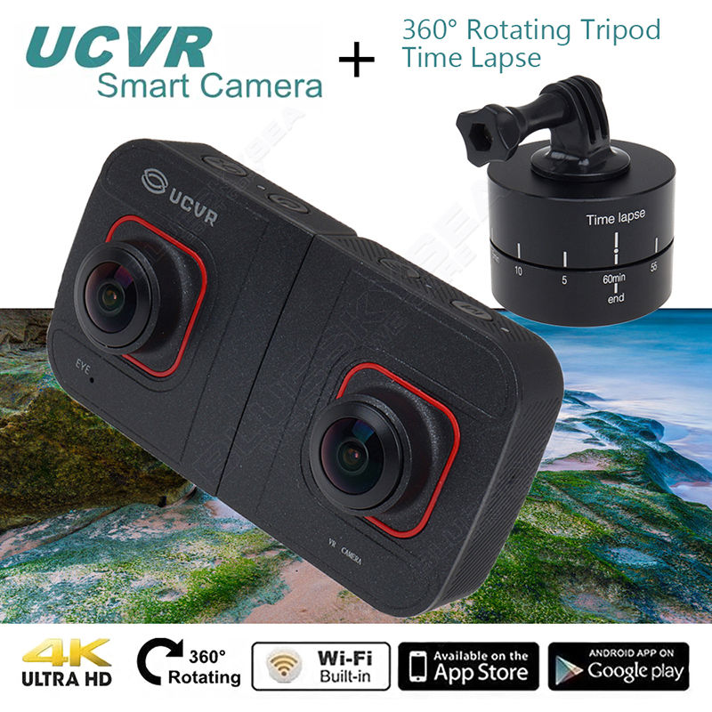 Free shipping UCVR Digital 360 Degrees 1080P font b VR b font 16MP Wifi Sport Camera