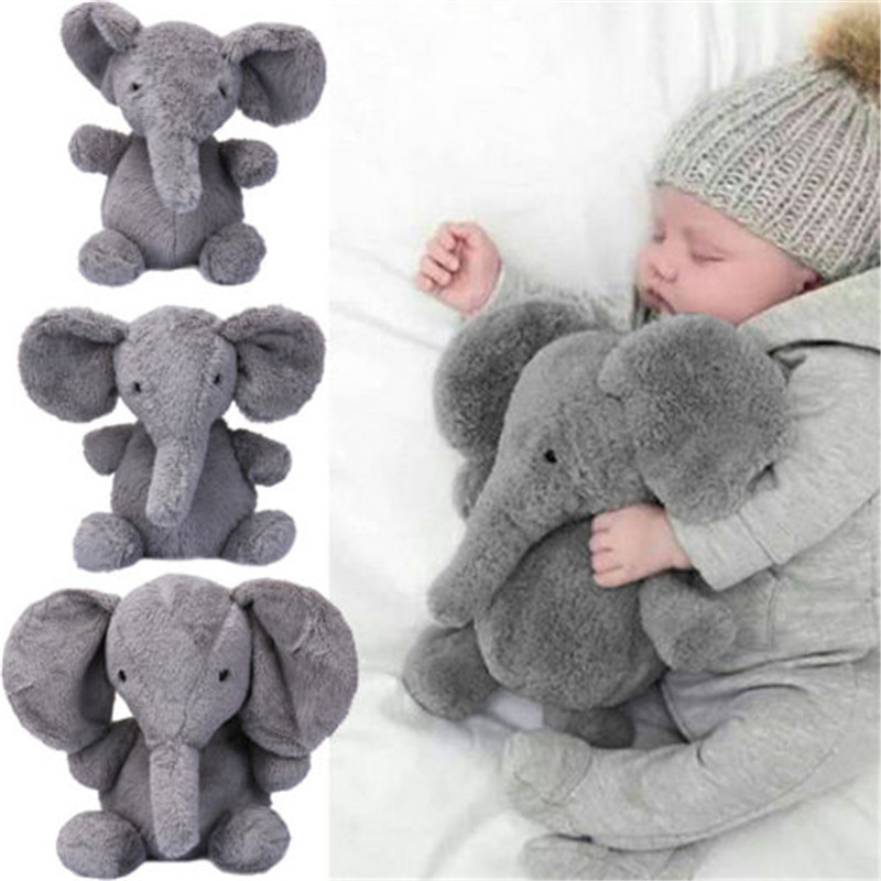 Cute Baby Elephant Plush Toy Long Nose Elephant Doll Pillow Soft Plush Stuff Lumbar Pillow For Children