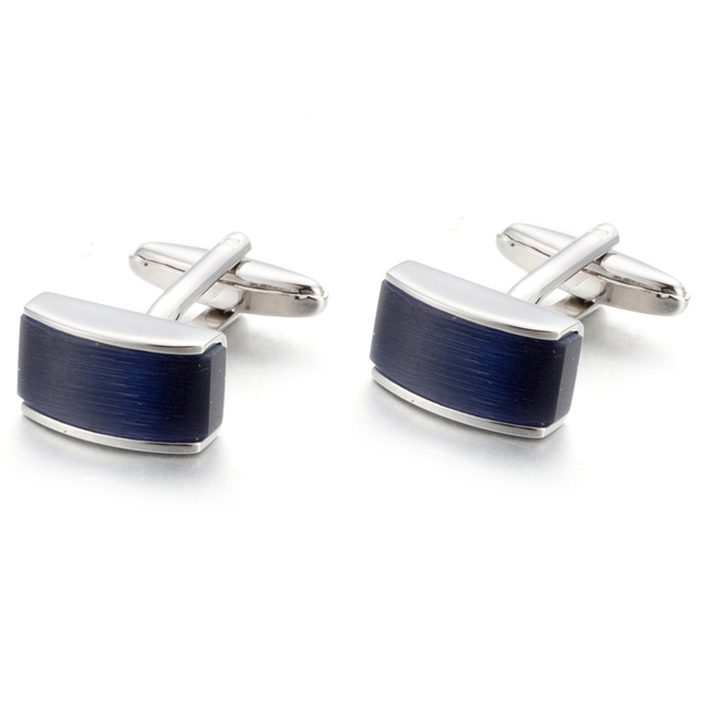 Blue Stone Cufflinks Shirt Cuff Links Wedding Lawyer Gemelos Cuffs 761
