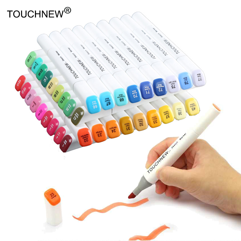 TOUCHNEW art supplies Artist Double Headed Marker Set Mark Pen manga Animation Design Paint Sketch Markers for Drawing touchnew 7th 30 40 60 80 colors artist dual head art marker set sketch marker pen for designers drawing manga art supplie