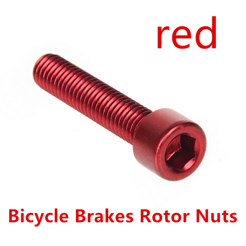 7075 T6 Aluminium Alloy Bike Bicycle Disc Brakes Rotor Screw Bolts Nuts Torx For Cycling Headset M6x30mm Free Shipping red aluminium alloy headset stand holder