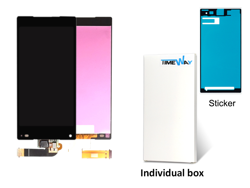 Free Dhl 30 Pcs/lot New Mobile Phone Parts Lcd Display With Touch Screen Digitizer For Xperia Z5 Compact Mini E5803 Black/white 30 pcs lot for sony xperia m5 new mobile phone lcd display with touch screen digitizer assembly black white free dhl shipping