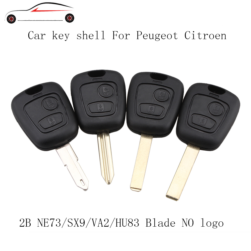 GORBIN 2 Buttons Remote Car Key Fob Case For PEUGEOT For Citroen PARTNER HU83/VA2/NE73/SX9 Blade(China)